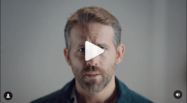 image showing still image of a ryan reynolds video