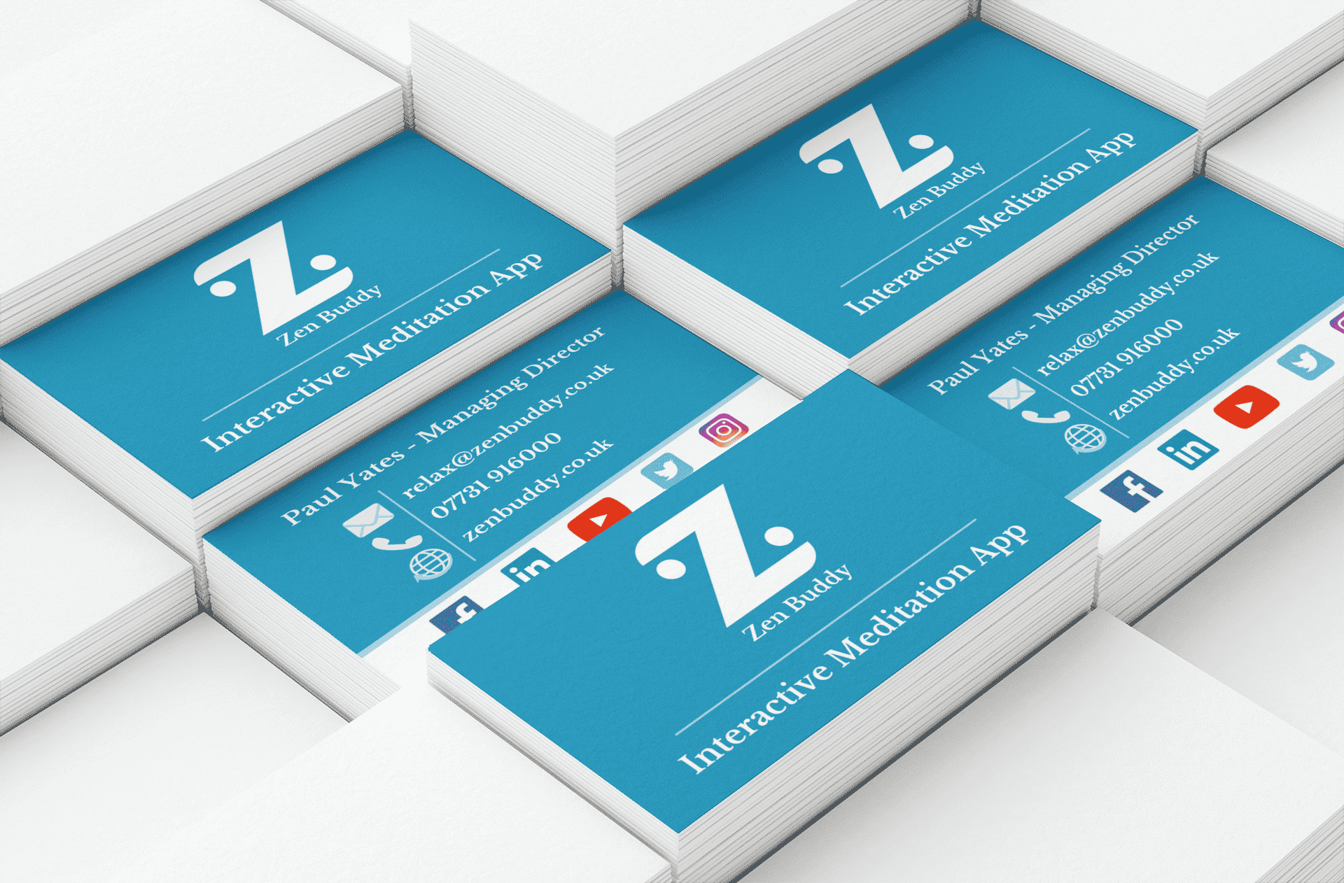 Image shows Zen Buddy business cards
