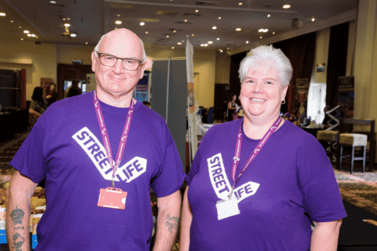 Photo of Street Life Charity exhibiting at Blackpool Expo 2019
