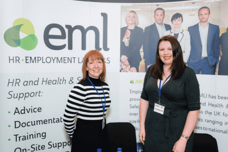 Cheryl Moolenschot and colleague from EML exhibiting at Blackpool Expo 2019