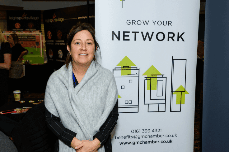 Photo of Diane from the Greater Manchester Chamber of Commerce, Business Expo Wigan partners