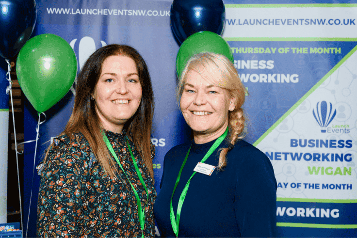 Photo of Business Expo Wigan Organisers, Jo Leigh and Nichola Howard from Launch North West