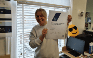 jo leigh from launch north west with her IDM certification in data and digital marketing