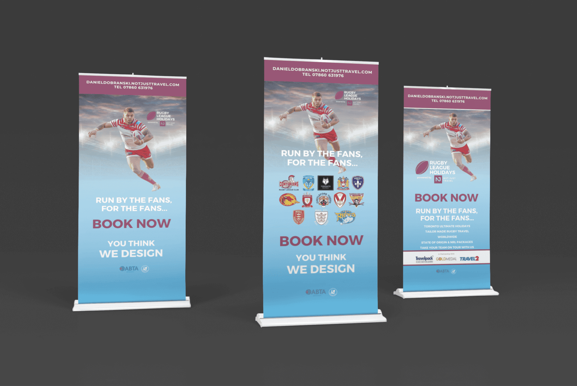 Rugby League Holidays Banner Mock-ups