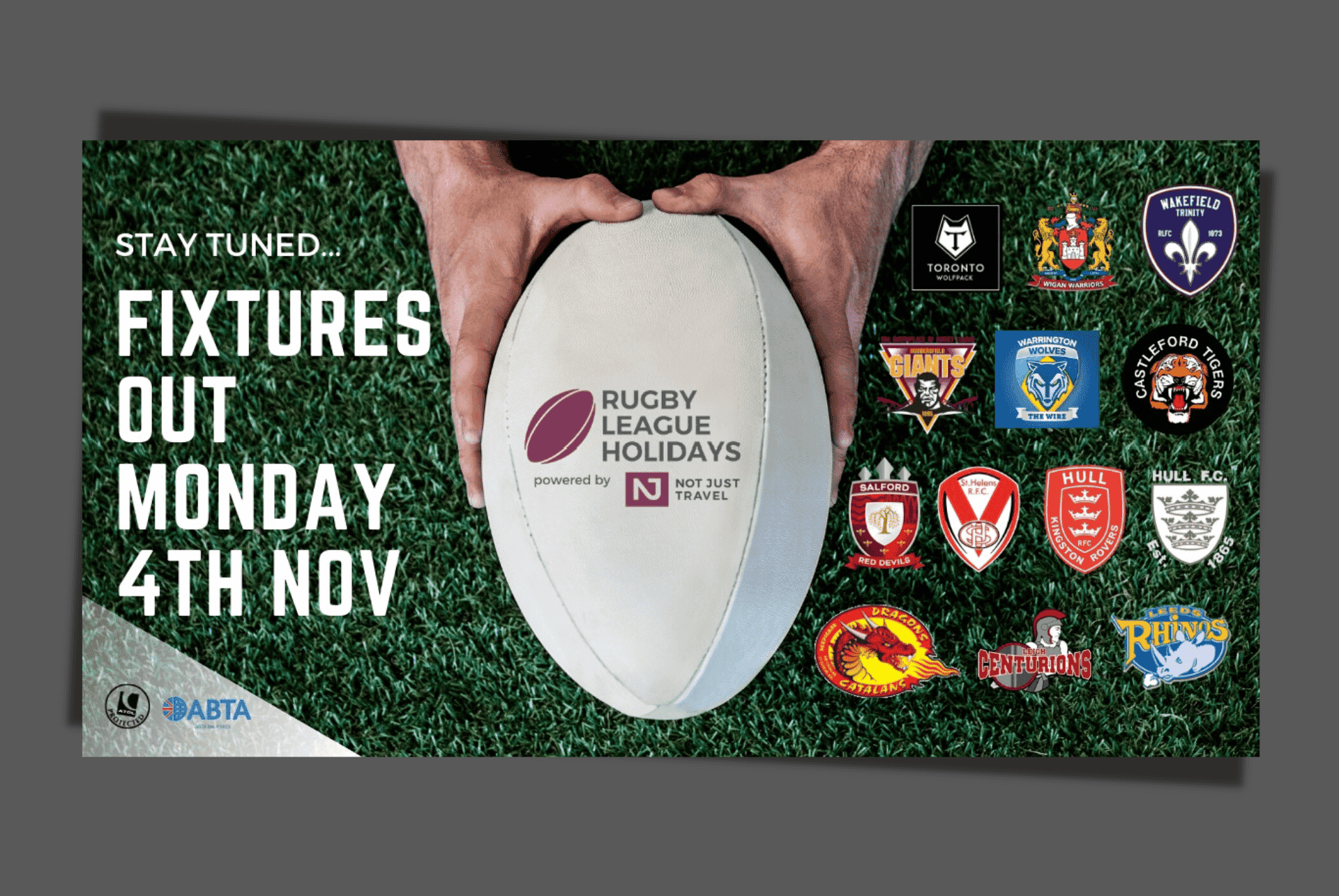 Rugby League Holidays Social Media Graphic Design